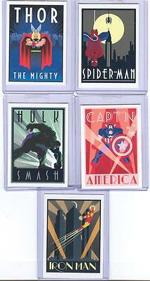 2014 Marvel 75th Anniversary D1 - D5 CASETOPPER SET Of 5 Cards! MINT! SEALED!