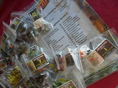 Yowie Yowies, Lost Kingdom C * Full Set 30 + Full Intact Papers ,quality Set