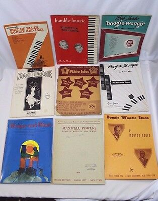 Group Lot Vintage Boogie Woogie Song Books
