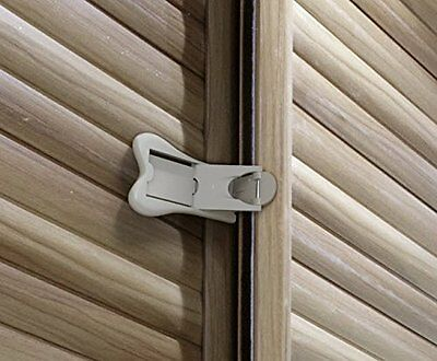 Sure Basics SB22 Sliding Door Lock, Grey/White, 2 Pack