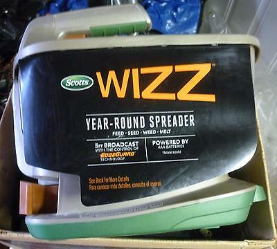 Scotts*Wizz*Hand-Held Spreader*Used-1-time*Store-DEMO UNIT*BIN*FREE SHIPPING !!