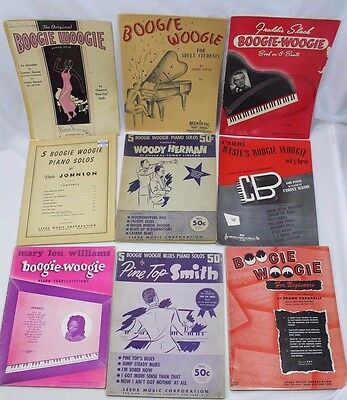 A Group Lot Vintage Boogie Woogie Song Books