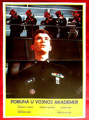 Taps 1981 George C Scott Timothy Hutton Ronny Cox H. Becker Exyu Movie Poster