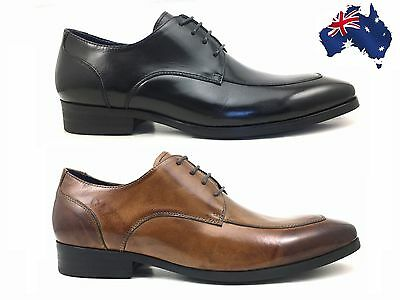 Men's Genuine Baby Buffalo Leather Formal Lace Up Wedding Shoes Italian Style