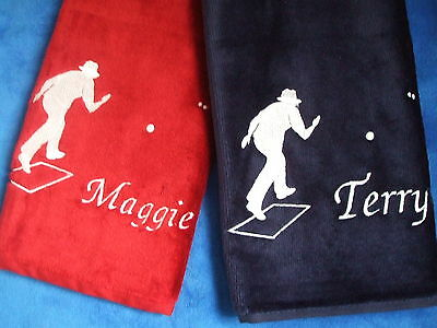 Tri Fold Personalised Bowls Towel Ideal for woods, Crown, Flat, Lawn Green Bowls