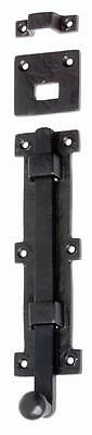 FP Pair of (2) black powder coated, tower or panic bolts.200 mm TH 1900