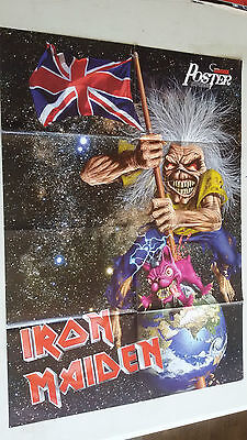 IRON MAIDEN 2 -  (POSTER A DOBLE CARA) METAL HAMMER (60X82cm)