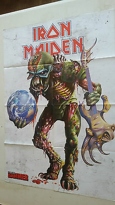 IRON MAIDEN -  (POSTER A DOBLE CARA) METAL HAMMER (60X82cm)