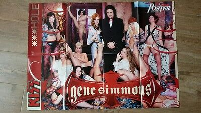 KISS - GENE SIMMONS (POSTER A DOBLE CARA) METAL HAMMER (60X82cm)