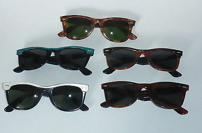 Excellent condition! 5 Ray Ban USA B&l  Wayfarer 50 mm vintage sunglasses Rare!
