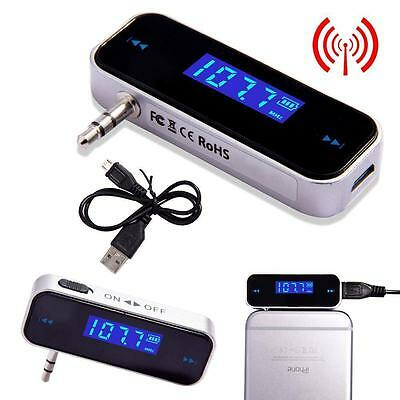 Wireless Music to Car Radio FM Transmitter For 3.5mm MP3 iPod iPhone Tablets SW,