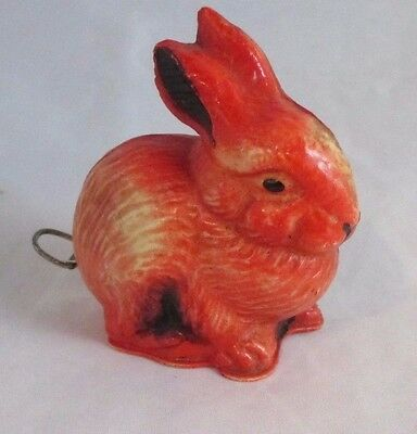 Antique celluloid BUNNY RABBIT TAPE MEASURE ; c1920's, Unique & RaRe