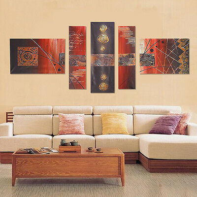 5Pcs Abstract Modern Wall Oil Painting On Art Canvas Picture Print No Frame