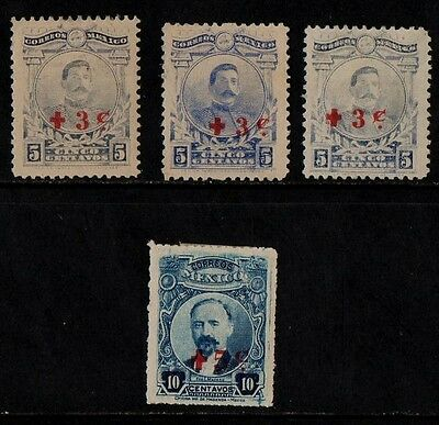 1919 MEXICO RED CROSS STAMP(MH small tear on10c stamp) S.G.413,414