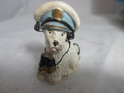 Antique celluloid DOG in SAILOR HAT, TAPE MEASURE ; c1920's, Unique & RaRe