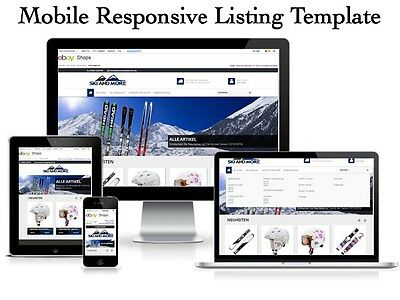 Ebay listing Template Mobile Responsive 2017 Compliant