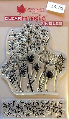 Woodware Clear Magic Grasses stamp JGS267
