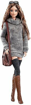 NEW! 2017 Barbie The Look Sweater Dress Model Muse Articulated Doll