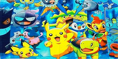 New Kids Towel Pokemon Pikachu Bath Swimming Pool Beach Boys Girl Shower Gift