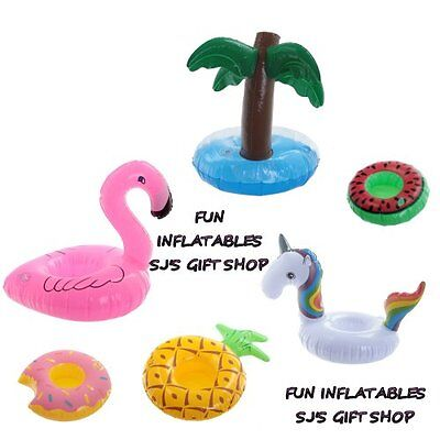Fun Inflatables Drinks Pool Holiday Bath Flamingo Unicorn Palm Donut Cool New