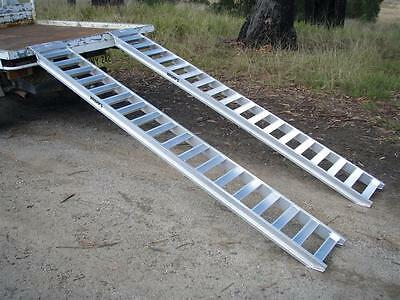 1.5 tonne capacity machinery loading ramps 3 metres x 300mm track
