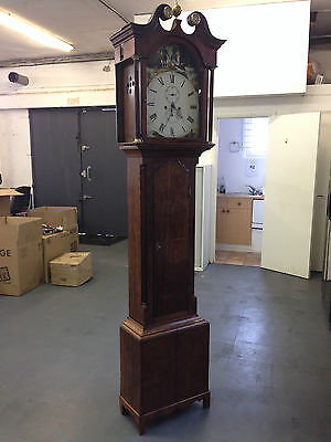 Antique Grandfather Clock with Hand Painted Face