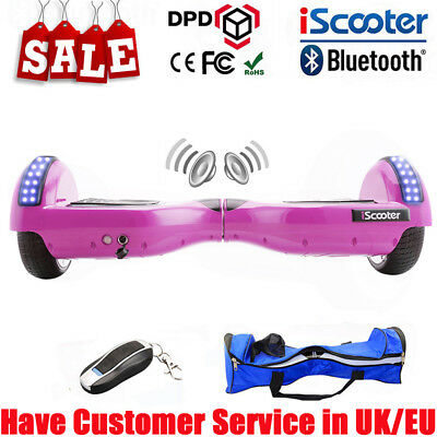 SELF BALANCING SCOOTER ELECTRIC BALANCE BOARD 2 WHEELS BLUETOOTH BOARD + Remote