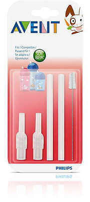 Philips Avent Straw Cups Replacement Straw Set with Brush