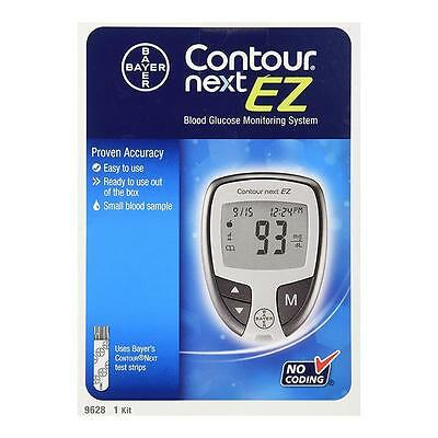 NEW Bayer 6TCCzq1 Contour Next EZ Blood Glucose Monitoring System 5-Second 7252
