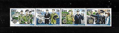 Ireland , MNH 1988, 4 x Irish security forces stamps in strip