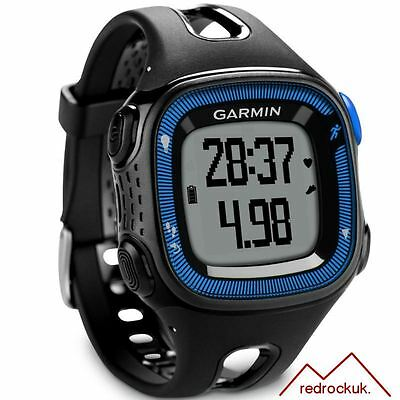 Garmin Forerunner 15 GPS ANT+ Running Watch & Activity Tracker,Large, Black/Blue