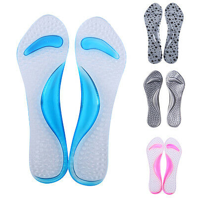 Hommes Femmes silicone souple Gel Coussin Foot Care Shoes Insert Pad Sole Insole