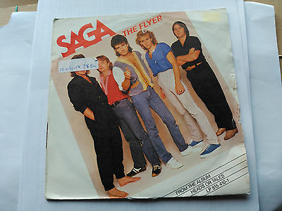 Single Saga - The Flyer - Polydor Spain 1983 G+/vg+