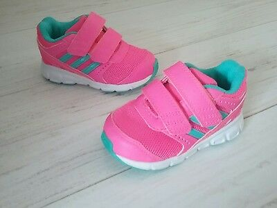 baby girls  ADIDAS velcro TRAINERS Size 4 NEW