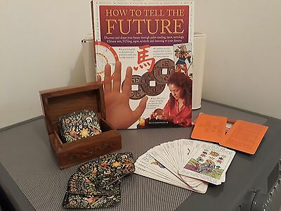How To Tell The Future Book Tarot Cards & Wooden Box