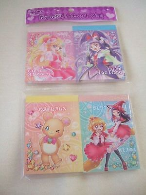 Japan Animation Pretty Cure Precure 4 memo pads NEW Maho Girls