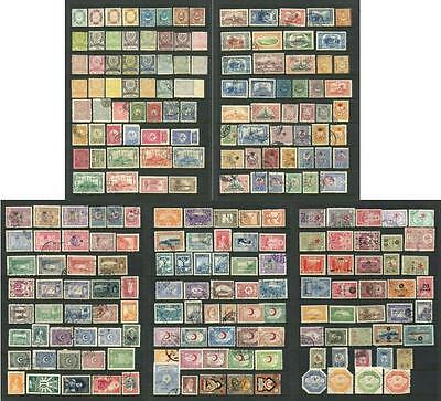 Turkey Mixed Lot of Stamps, mostly earlier period. Mixed Mint, Used etc.
