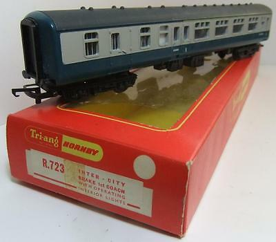 HORNBY RAILWAYS R723 Inter-City blue/grey Brake 1st coach (Boxed WITH LIGHTS