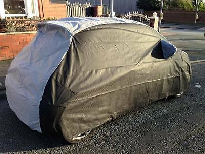 FIAT 500 ABARTH Outdoor Tailored Breathable Fitted Car Cover - Black & Grey