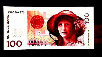 Norway 100 Kroner P 49 2010 Gem Unc .