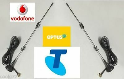 5dBi DUAL ANTENNAS FOR TELSTRA/VODAPHONE 3G 4G LTE MODEMS TS9 Connector/2m cable