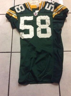 Ben Taylor Green Bay PAckers Game used/worn jersey size 44 VA Tech