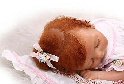 Silicone Vinyl Real Reborn Baby Girl Doll Newborn Sleeping Lifelike Full New