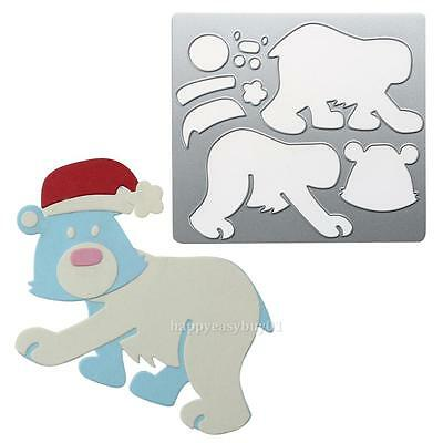Christmas Bear Metal Cutting Die Stencil DIY Scrapbooking Album Paper Card Craft