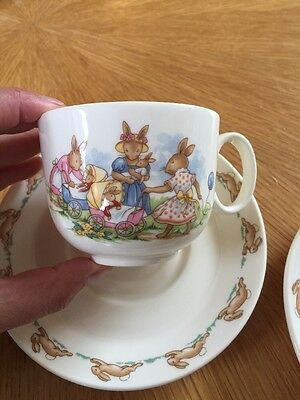 Bunnykins Royal Doulton Cup And Saucer Perfect Christening Present, Very Sweet