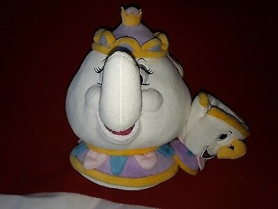 Mrs Potts and Chip Soft Toy Disney plush Beauty and the Beast New teapot cup
