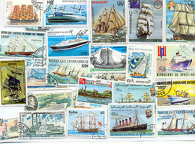 Ships & Seacraft collection of 500 all different(off paper)lovely selection