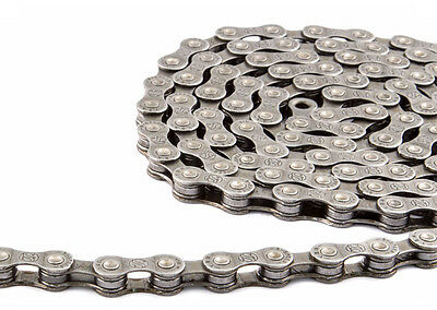 New  Bicycle Road/Mountain Bike Speed Chain Silver/Black 116 links