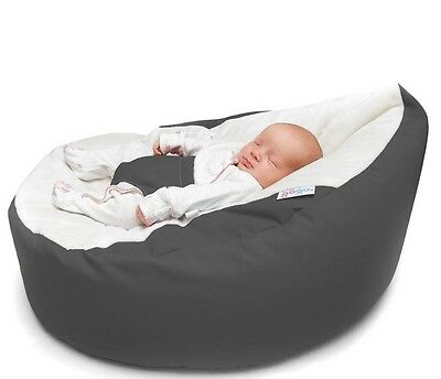 GaGa Pre-filled Baby Bean Bag - Grey