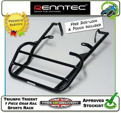New Renntec Luggage Carrier Sports Rack In Black To Fit The Triumph Trident